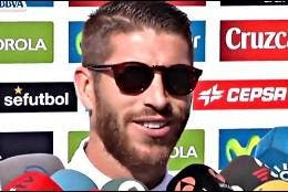 Sergio ramos, defensa central del Real Madrid.