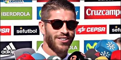 Sergio ramos, defensa central del Real Madrid.
