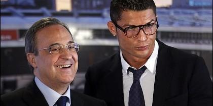 Florentino Pérez y Cristiano Ronaldo.