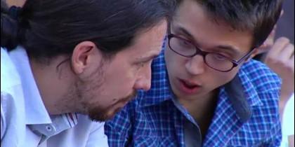 Pablo Iglesias e Íñigo Errejón.
