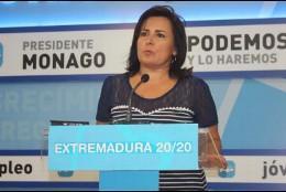Francisca Rosa, portavoz del PP extremeño.