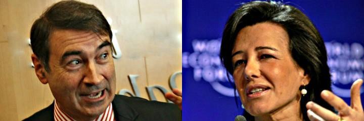 Pedrojota Ramírez, ex director de 'El Mundo' y Ana Patricia Botín, presidente del Santander.