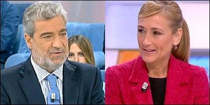 Miguel Ángel Rodríguez y Cristina Cifuentes.