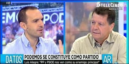 Luis Alegre y Alfonso Rojo.