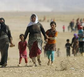 Cristianos huyendo de Irak