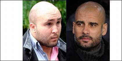 Kiko Rivera y Pep Guardiola.
