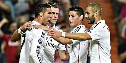 Cristiano Ronaldo, Bale, James y Benzema.