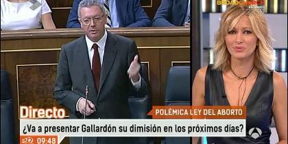 Gallardón y Susanna Griso.