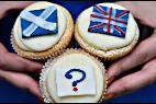 Pastelitos por el SI, el NO y los indecisos en el referéndum de Escocia.