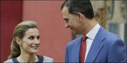 Sus Majestades los Reyes de España Felipe VI y Doña Letizia