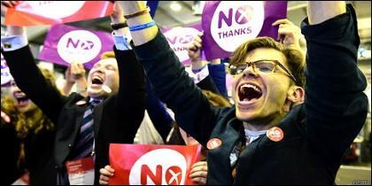 El No se impuso 55%-45% al Sí en el referendo de Escocia, pero los independentistas fueron mayoría en Glasgow, la mayor ciudad de esa nación.