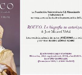 Invitación a la presentación de Rouco: la biografía no autorizada