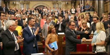 El Parlament tras la aprobación
