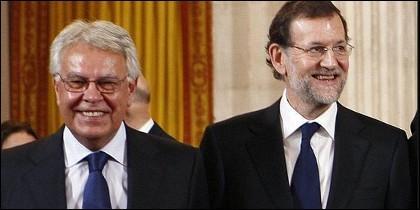 Felipe González y Mariano Rajoy.