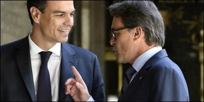 Pedro Sánchez y Artur Mas