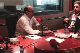 José Manuel Vidal, con Jordi Basté y Oriol Junqueras