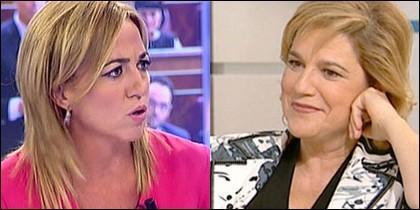 Carme Chacón y Pilar Rahola.