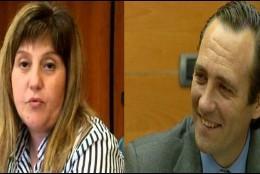 Joana Maria Camps y su 'jefe'