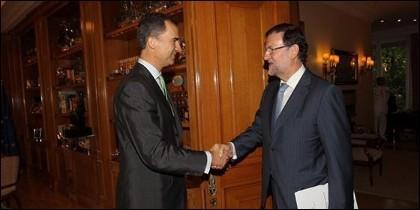 Felipe VI y Mariano Rajoy.
