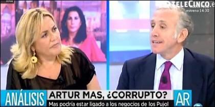 Mayka Navarro y Eduardo Inda.
