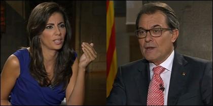 Ana Pastor entrevista a Artur Mas.