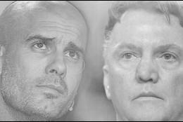 Pep Guardiola y Van Gaal.