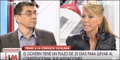 Juan Carlos Monedero y Montse Suárez