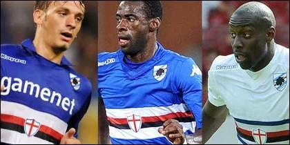 Gabbiadini, Obiang y Okaka.