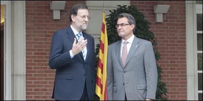 Rajoy y Mas.