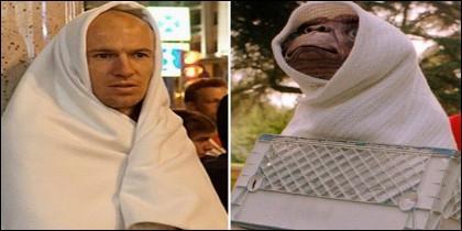 Robben y E.T.
