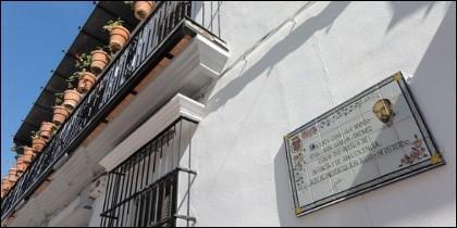 Casa natal de Juan Ramón Jiménez en Moguer.