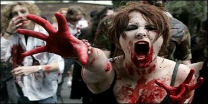 Una zombi en acción