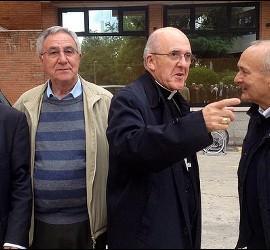 Osoro, con Juan Mari Laboa, el padre Ángel y Julián del Olmo
