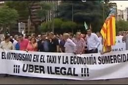 Taxistas contra Uber.
