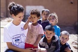 Sandra Blazquez y su lado más solidario en Marruecos