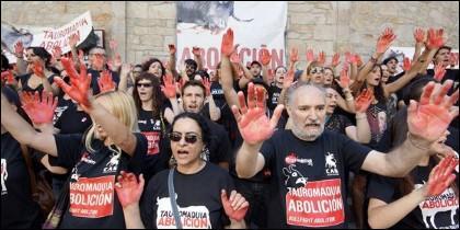 Manifestación en defensa de los animales.