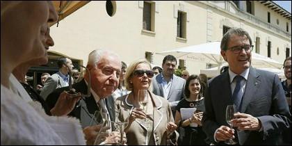 Mas, el pasado junio en Sant Sadurni d'Anoia, junto a Josep Ferrer y su esposa