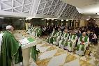 El Papa Francisco, esta mañana en Santa Marta