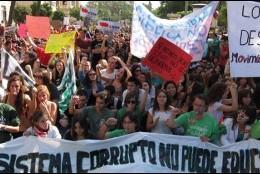 Manifestantes.