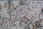 Mapa frances de 1235, donde Cataluña aparece como era en la época.