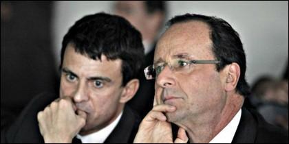 Manuel Valls y François Hollande.