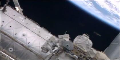 El Ovni cerca de la ISS