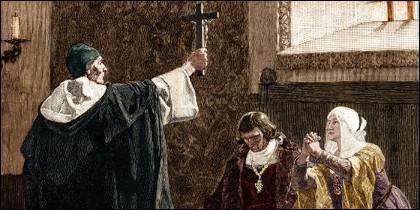 Torquemada y los Reyes Católicos.