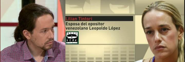 Pablo Iglesias y Lilian Tintori.