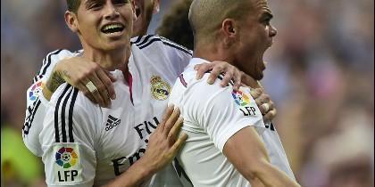 James, Sergio Ramos y Pepe.