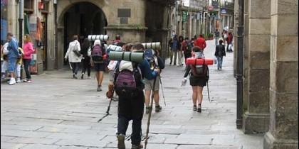 Peregrinos en Compostela
