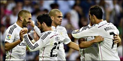 Benzema, Isco, Pepe, James y Cristiano Ronaldo.