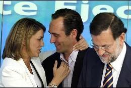 Bauzá con Rajoy y Cospedal
