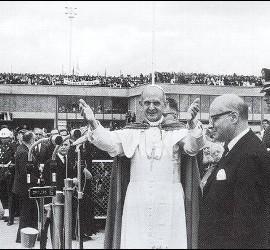 Pablo VI en su visita a Colombia