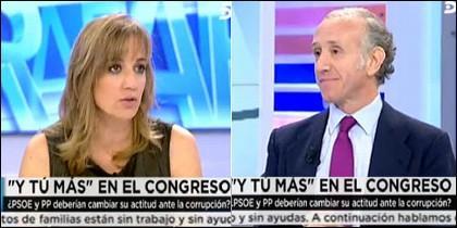 Eduardo Inda y Tania Sánchez.